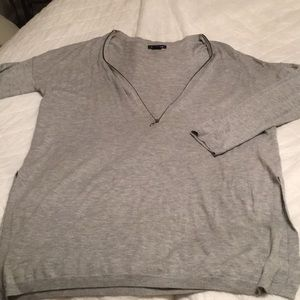 Trouve cashmere blend sweater with zipper